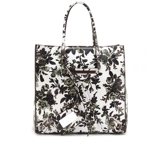 Balenciaga floral print leather tote