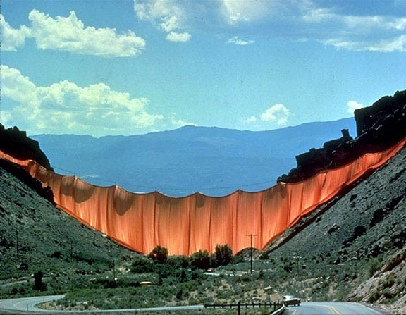 Valley Curtain by Christo & Jeanne-Claude