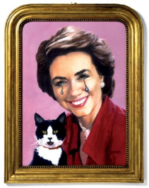 Hillary and Socks Clinton by Francesco Vezzoli (2007)