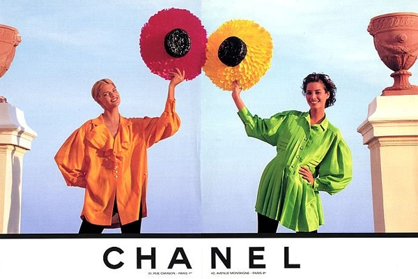 1991 Chanel Ad / Linda Evangelista & Christy Turlington