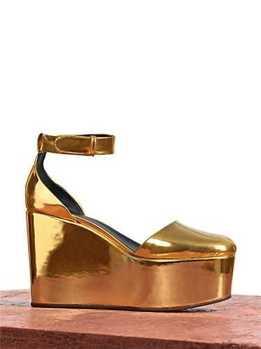 Céline gold platform shoes