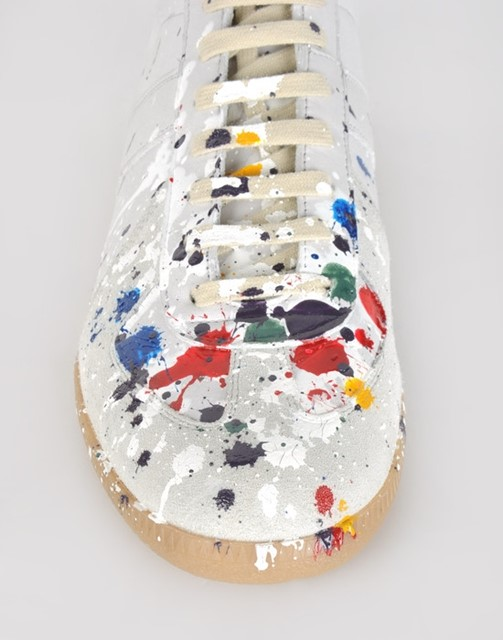 Painted sneakers by Maison Martin Margiela