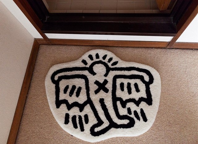 DAISUKE GENMA'S KEITH HARING RUG IN HIS TOKYO HOME
