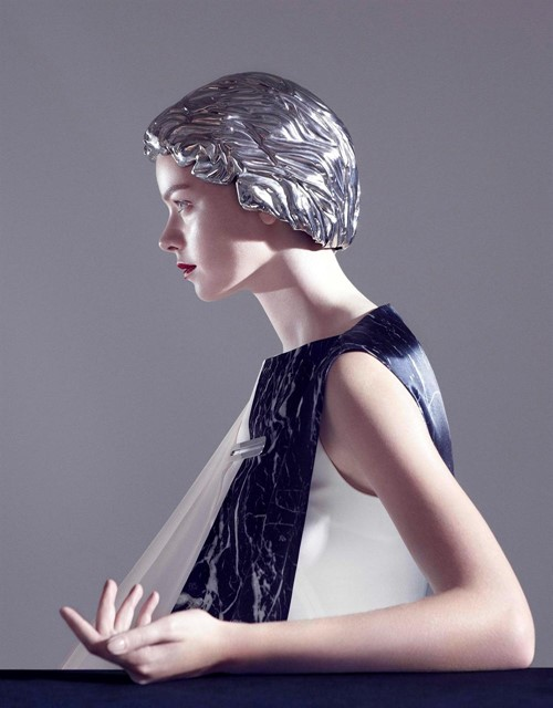 'Hussein Chalayan for Palladium Visions' metal wig
