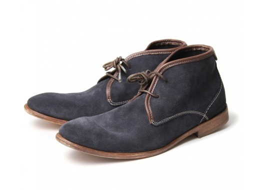 Blue suede boots by Hudson