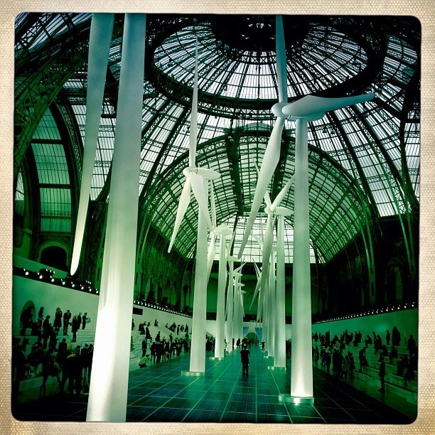 wind turbines at Chanel Spring 2013