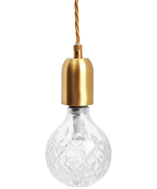 Crystal Bulb and Pendant by Lee Broom