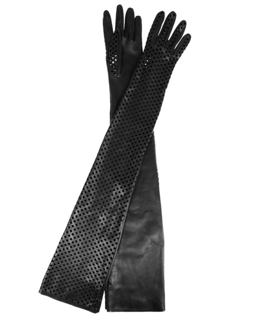 Versace Perforated Leather Gloves