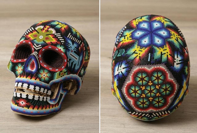 Our Exquisite Corpse. Beaded Skull