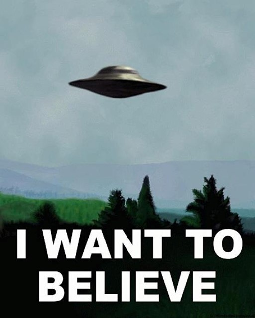 I WANT TO BELIEVE poster from The X-Files
