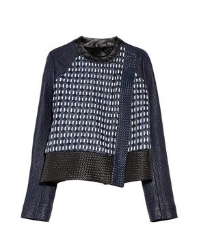 Proenza Schouler - asymmetric woven leather jacket