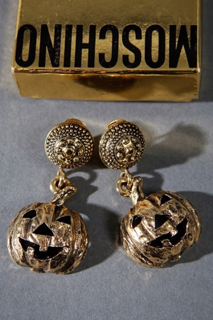 Vintage Moschino Pumpkin Earrings