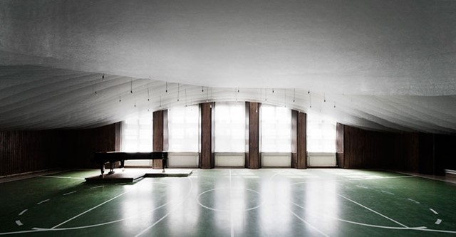 A Gym Is Transformed Into A Concert Hall In The Pannonhalma Archabbey, Hungary