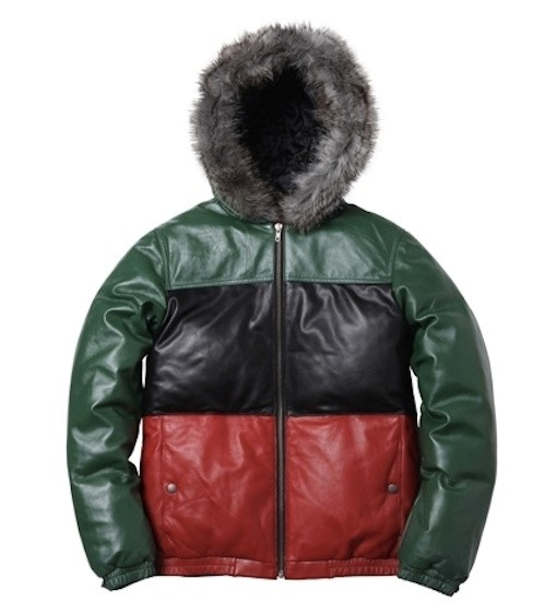 SUPREME LEATHER DOWN JACKET