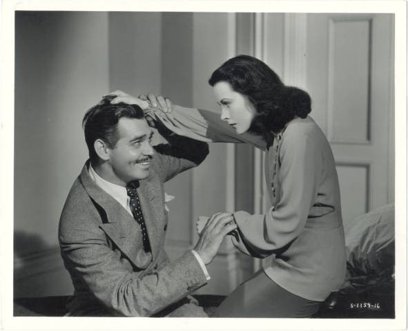 Clark Gable & Hedy Lamarr in Comrade X, 1940