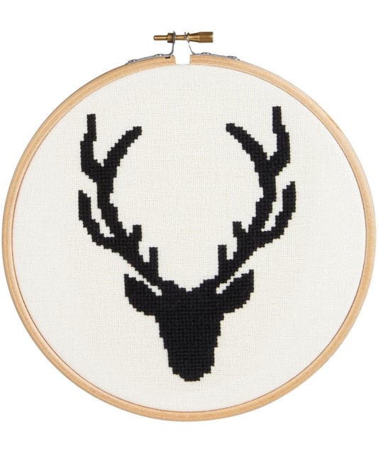 Stag Head Cross Stitch Kit