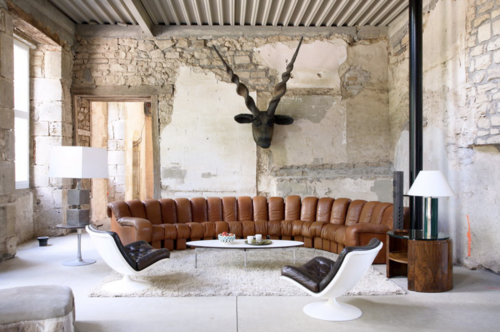 Michel Perry's home photographed by Jean-Francois Jaussaud
