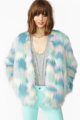 Nasty Gal fantasy faux fur coat