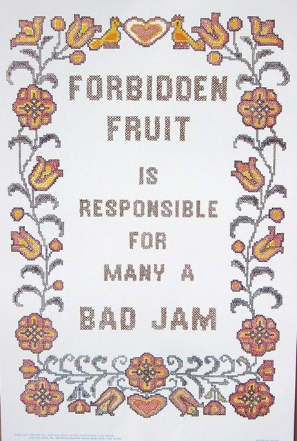 Forbidden Fruit , Bad Jam 1976 Vintage Poster