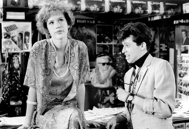 Andie and Duckie in Pretty in Pink, 1986