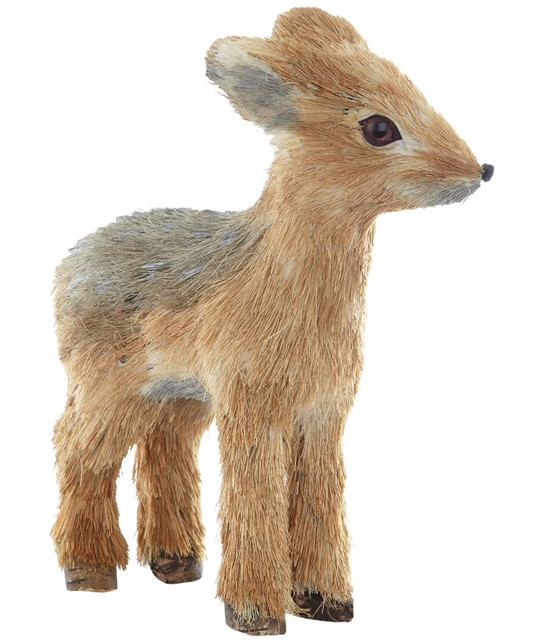 Baby Deer Bristle Ornament by Gisela Graham