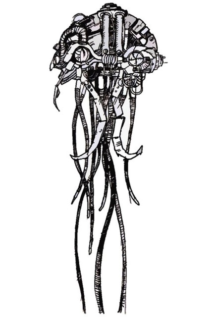Giant Mechanic Squid, artwork by Torbh