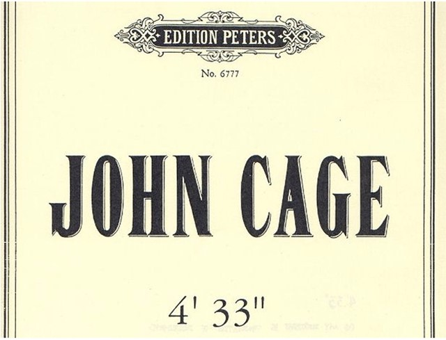 Score for John Cage's 4'33""