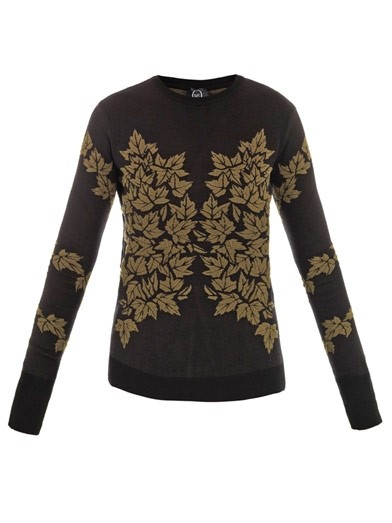 Leaf intarsia sweater by McQ Alexander McQueen