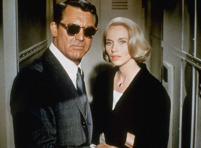 Cary Grant and Eva Marie Saint in North by Northwest, 1959