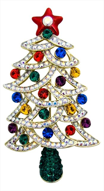 Christmas tree brooch by Butler & Wilson