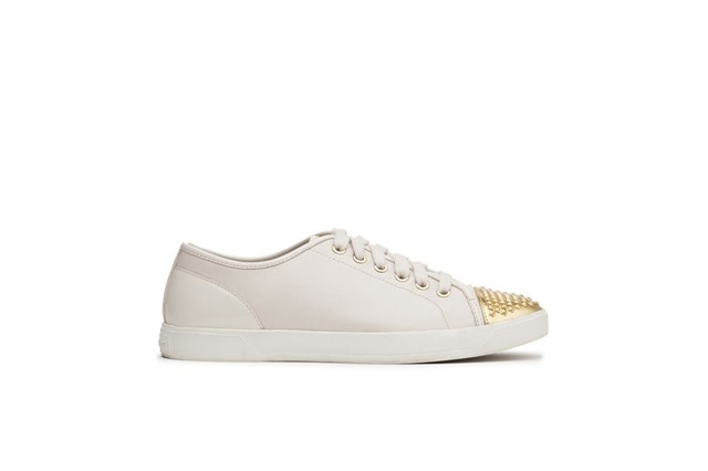 Michael Kors gunmetal cap toe sneakers