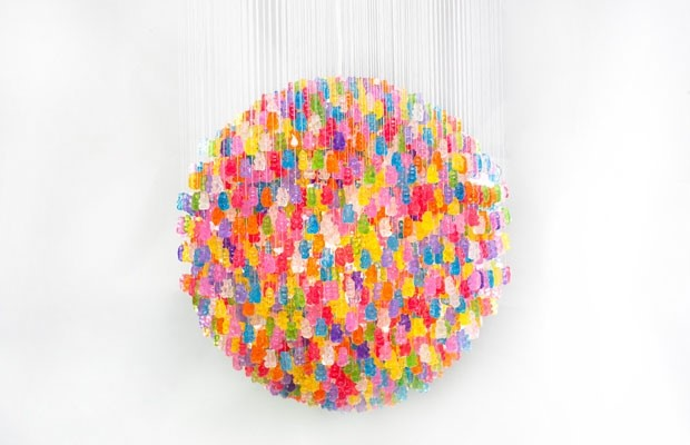 GUMMY BEARS CHANDELIER BY KEVIN CHAMPENY