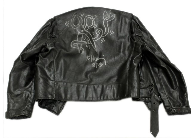 KEITH HARING LEATHER JACKET 1989