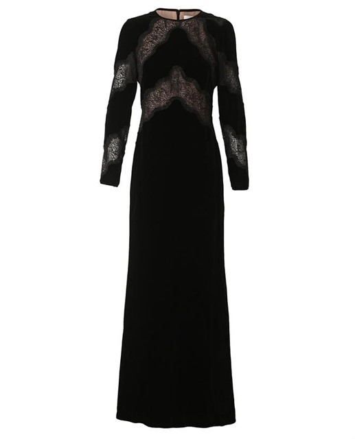 Lace panelled velvet gown by Valentino