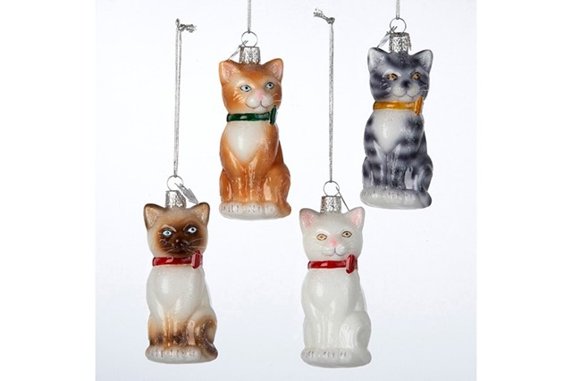 Cat Baubles by Kurt Adler