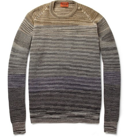 Missoni Striped Knitted Wool-Blend Sweater
