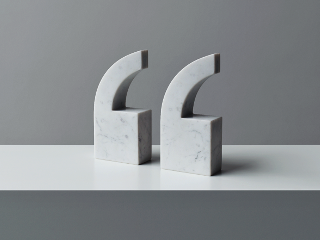QUOTE Marble Bookends by Julia Stenius