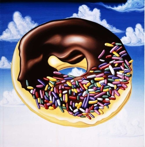 KENNY SCHARF DONUT PAINTING