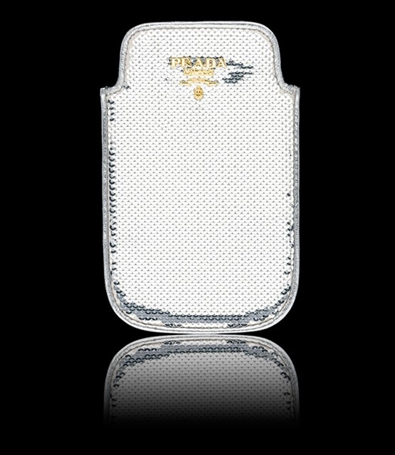 Prada iPhone Cover in Silver