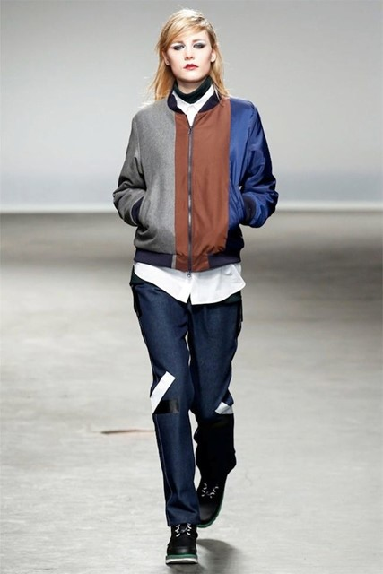 GIRLS MODELLING IN CHRISTOPHER SHANNON FALL/WINTER 2013/14 MENSWEAR SHOW