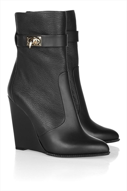 Givenchy leather wedge ankle boots