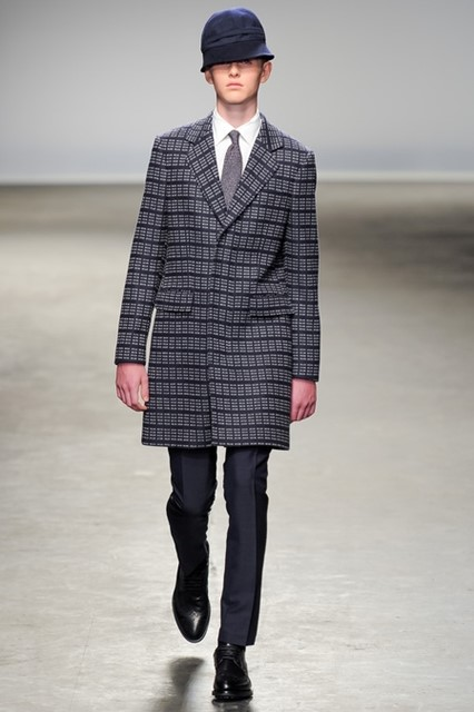E. Tautz AW13 Space Invader tweed coat