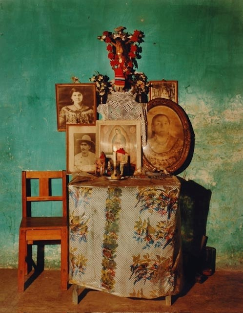 Mexican home altar by Dana Salvo, 1989