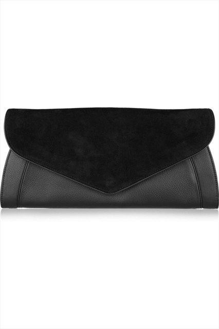 See by CHLOÉ Anna leather and suede clutch