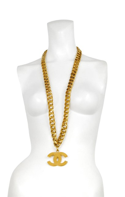 Chanel vintage oversized gold chain necklace