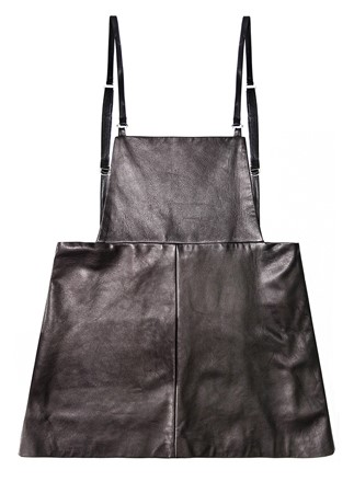 UNIF.M leather pinafore