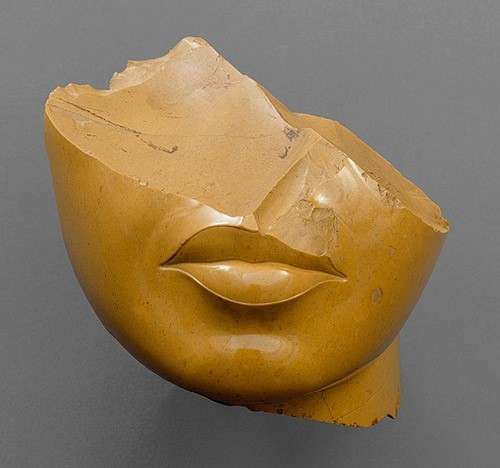 Fragment of the face of a queen