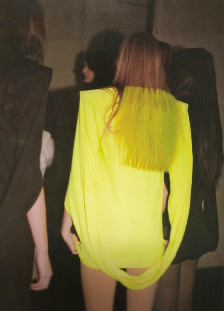 Margiela matching hair and dress.