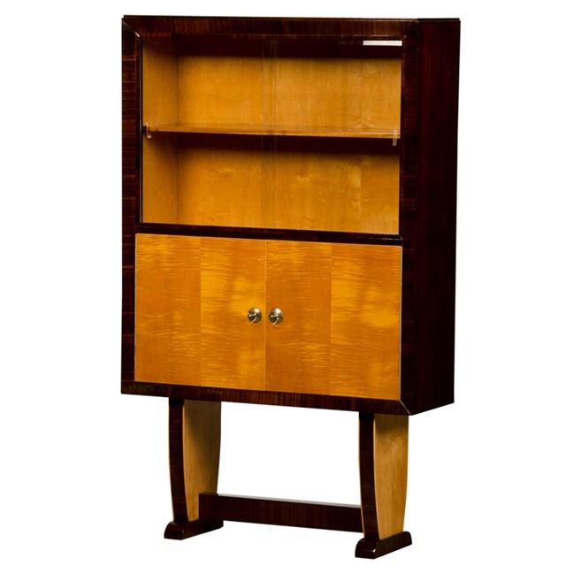 An Art Deco bookcase or standing bar from Italy c.1940