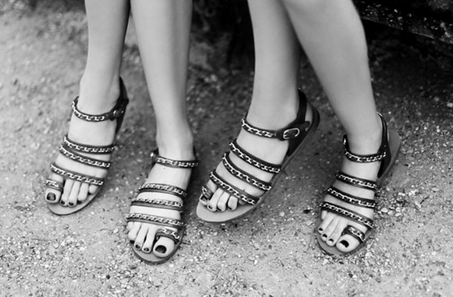 CHANEL PRE-COLLECTION CHAIN SANDALS